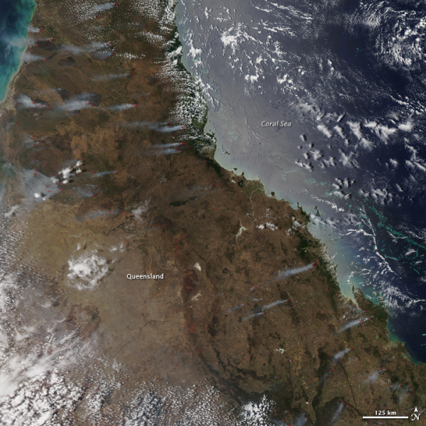Widok na Australijski stan Queensland (NASA)