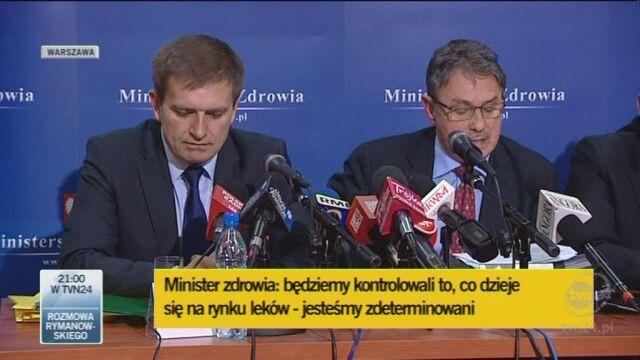 Wiceminister zdrowia o insulinach (TVN24)