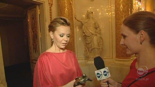 Rozmowa Brygidy Grysiak z Justyną Pochanke - laureatką Wiktora w kategorii: publicysta (TVN24)
