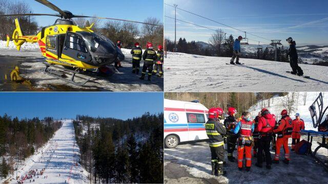 Snowboardziści zderzyli się na stoku. Stasia zabrał śmigłowiec