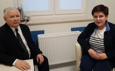 Prezes PiS u premier Szydło w szpitalu