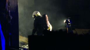 Pożar w zakładzie stolarskim, spłonęły dwie hale