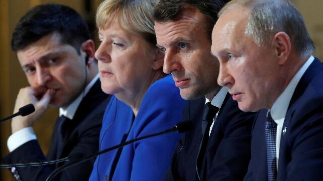 Zełenski po spotkaniu z Putinem:  dla mnie, szczerze mówiąc, to za mało
