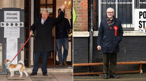Liderzy brytyjskich partii poszli do urn. Corbyn mógł zagłosować na siebie