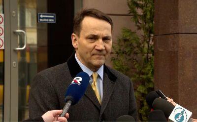 """Radosław Sikorski o śledztwie dotyczącym """"zdrady dyplomatycznej"""""""