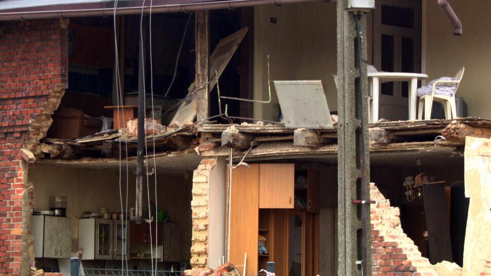 Po wybuchu odpadła ściana domu, ranny został 16-letni chłopiec