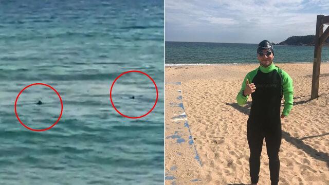 """""""Minuta zamieniła się w wieczność"""". Hiszpański pływak uciekał przed rekinami"""