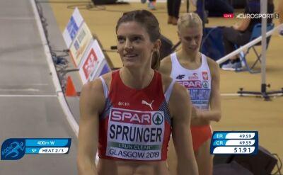 Baumgart-Witan bez awansu do finału biegu na 400m