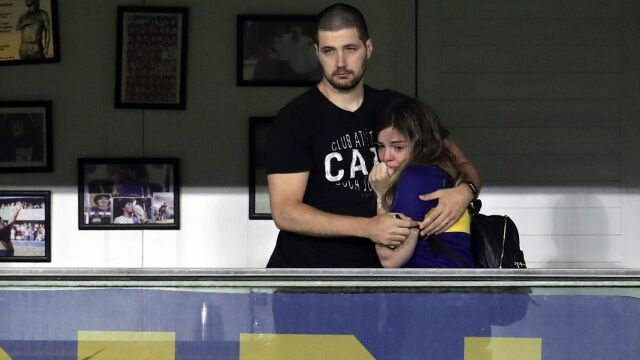 Wzruszona córka Maradony. Oglądała pierwszy mecz bez ojca