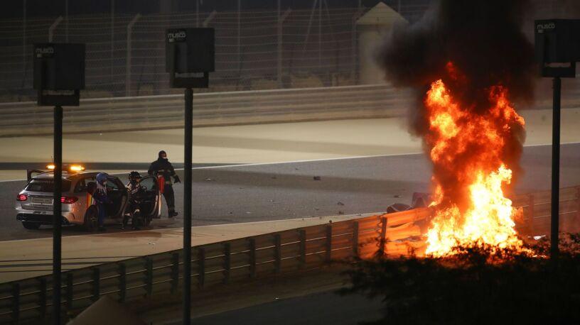 """""""To trwało dłużej niż 28 sekund"""". Grosjean powiedział, o czym myślał, gdy płomienie więziły go w bolidzie"""