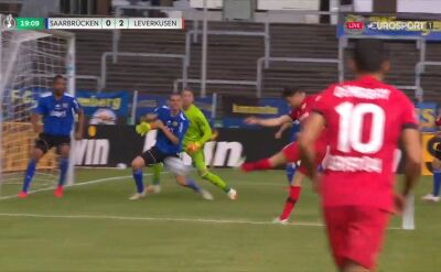 Puchar Niemiec. Saarbruecken - Bayer. Gol Lucas Alario (0:2)