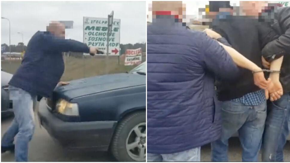 Był zdziwiony, gdy policjanci wymierzyli w niego broń i siłą wyciągnęli z auta