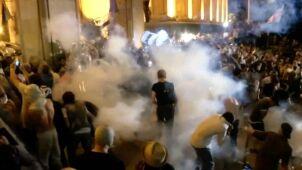 Protest w Tbilisi i starcia z policją