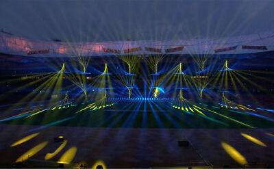 Pokaz świateł na Stadionie Narodowym w Pekinie
