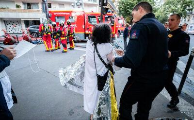 Pożar w 11. dzielnicy w Paryżu