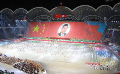 Prezydent Chin w Pjongjangu. Pokaz artystyczny