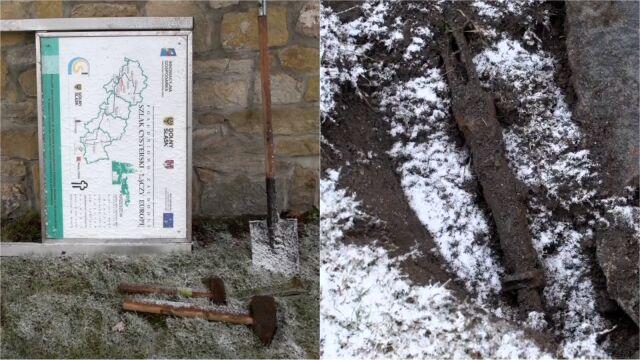Niemiecki karabin i radziecki granat. Odkrycie na terenie bazyliki