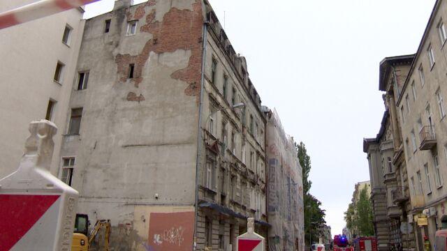 Zawaliły się stropy w kamienicy, Łódź prosi o pomoc państwową.