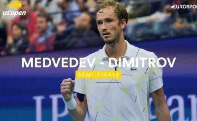 Skrót meczu Miedwiediew - Dimitrow w półfinale US Open