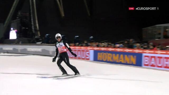 Skok Piotra Żyły z kwalifikacji w Oberstdorfie