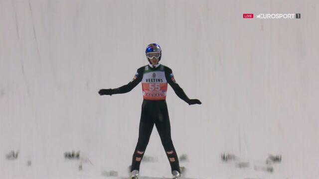 Skok Gregora Schlierenzauera z kwalifikacji w Oberstdorfie