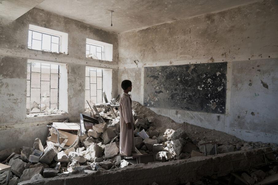 24 kwietnia 2017, Jemen. Zniszczona szkoła w miejscowości Saada
