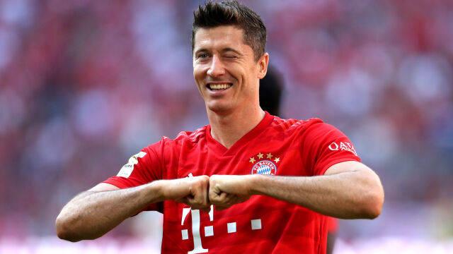 """""""Lewy"""" w końcu piłkarzem miesiąca Bayernu. Gigantyczna przewaga w głosowaniu"""