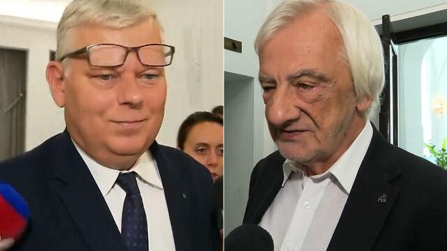 Marek Suski i Ryszard Terlecki o przełożeniu posiedzenia Sejmu