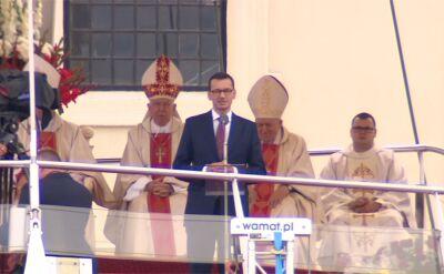 Premier Mateusz Morawiecki na pielgrzymce Radia Maryja