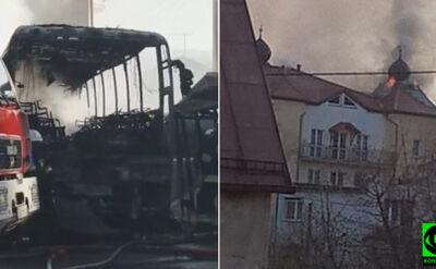 Ogień na dachu hotelu. Ewakuowano 100 osób