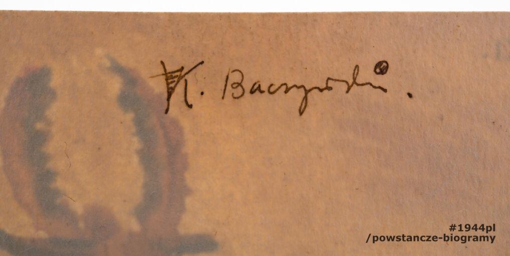 Szkic autorstwa Krzysztofa Kamila Baczyńskiego, przedstawiający jelonka. Akwarela była własnością  Józefa Sosnowskiego, który otrzymał go od poety w 1942 roku.   Józef Sosnowski i Krzysztof Kamil Baczyński byli sąsiadami i mieszkali przy ul. Hołówki w Warszawie