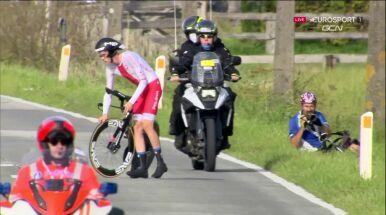 Defekt, którego nie było? Niezrozumiałe problemy polskiego juniora na trasie kolarskich mistrzostw świata