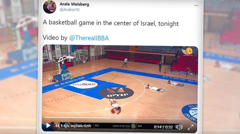 Alarm bombowy w trakcie meczu w Tel Awiwie. Nie wszyscy wiedzieli, co się dzieje