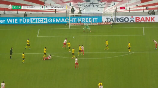 Puchar Niemiec. RB Lipsk – Borussia Dortmund 1:3. Gol Dani Olmo