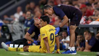 Barcelonie wypadła kolejna gwiazda. Suarez z podobną kontuzją jak Messi