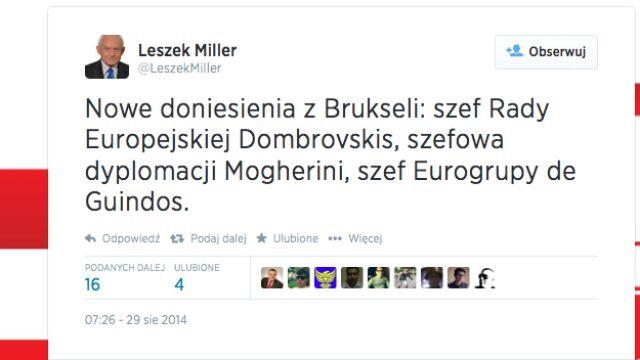 """Leszek Miller i jego """"przecieki"""""""
