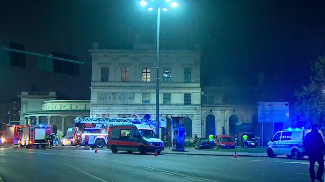 Pożar na Dworcu Świebodzkim we Wrocławiu. Dziewięć osób rannych