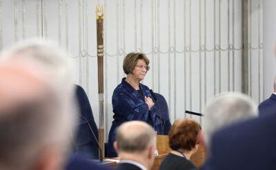 Marszałek senior Barbara Borys-Damięcka. Całe wystąpienie