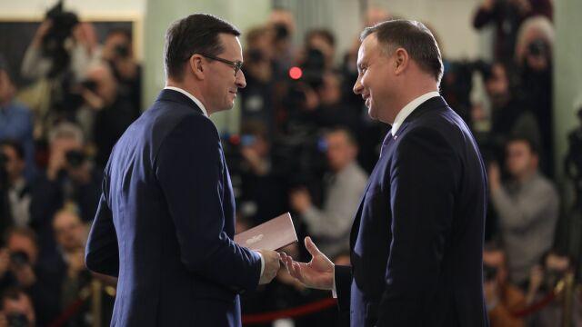 Prezydent powołuje nowy rząd. Morawiecki tymczasowym ministrem sportu