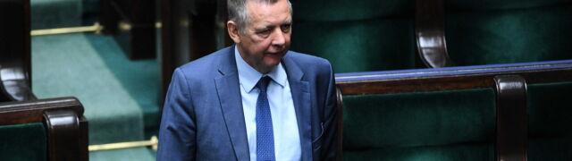 Marian Banaś pojawił się w Sejmie. Dziennikarze chcieli zadać mu pytania