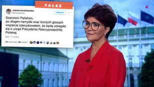 Jolanta Kwaśniewska wystartuje w wyborach prezydenckich? To fake news