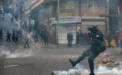 Starcia policji ze zwolennikami Evo Moralesa