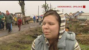 Rodzina z Sieroniowic opowiada o szkodach jakie wtrządziła trąba powietrzna
