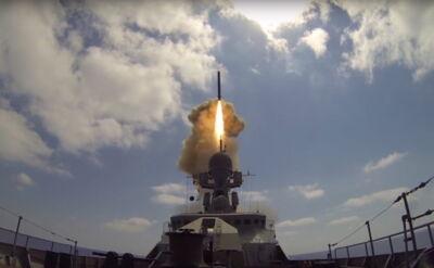 Odpalenie rosyjskich rakiet Kalibr-NK
