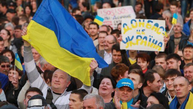 """""""Modlitwa o Ukrainę"""" na ulicach Doniecka"""