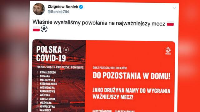 """""""Polska - COVID-19"""". Wyjątkowe powołania i apel PZPN"""