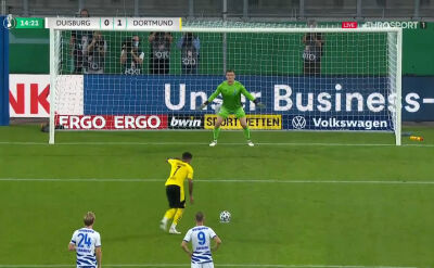 Puchar Niemiec. Duisburg - Borussia Dortmund 0:1. Gol Jadon Sancho
