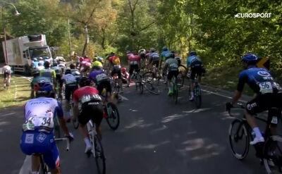Ciężarówka na drodze spowodowała kraksę na 5. etapie Tour de Luxembourg