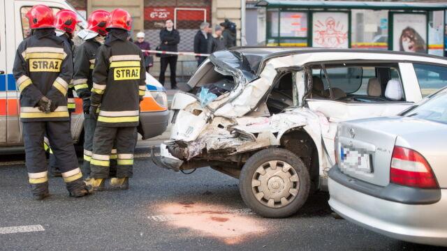 Policja o wypadku w Łodzi