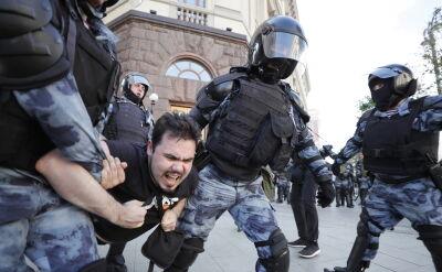 Protesty w Moskwie. Liczne zatrzymania demonstrantów